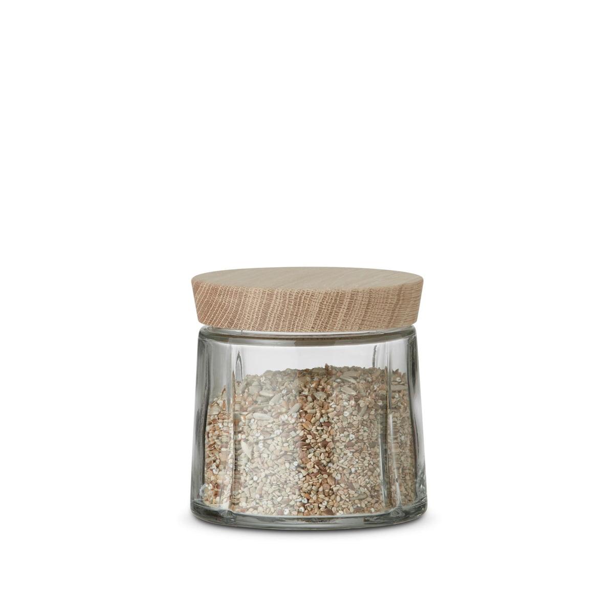 Rosendahl - Grand Cru bocaux en verre / chêne, 0,5 litre