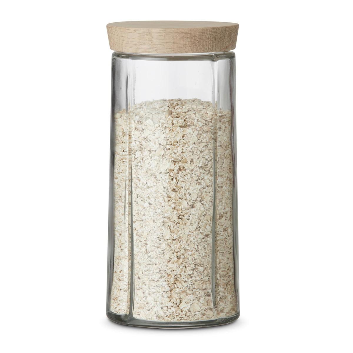 Rosendahl - Grand Cru bocaux en verre / chêne, 1,5 litre