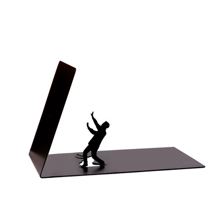 Falling Bookend d'Artori Design en noir