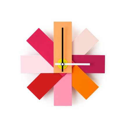 Normann Copenhagen - horloge murale Watch me, rose vif