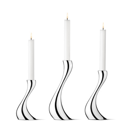 Georg Jensen - Cobra Bougeoir, Set à 3