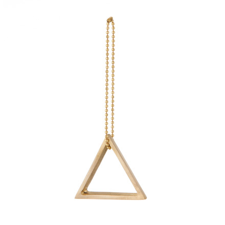 ferm Living - Ornement en laiton, triangle