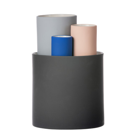 Ensemble de 4 vases Collect de ferm Living en multicolore