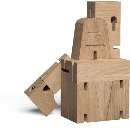 Figurine en bois repliable