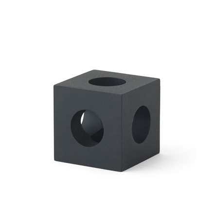 Le bougeoir Cube par Menu en noir