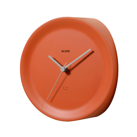 Horloge d'angle Ora In par Alessi en orange