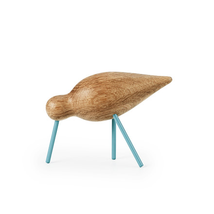 Shorebird Medium par Normann Copenhagen en bleu-mer