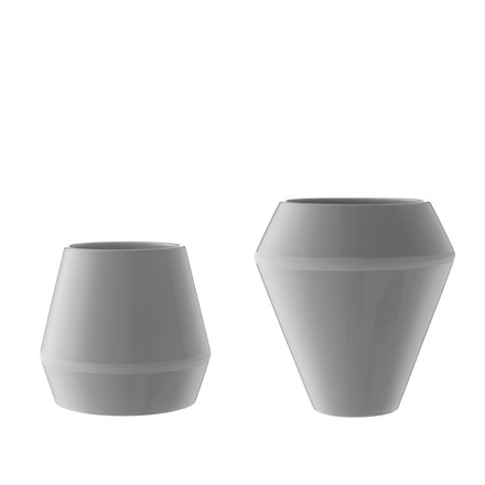 by Lassen - Vase Rimm petit et grand, gris cool