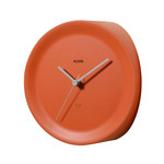 Alessi - Horloge d'angle Ora In, orange