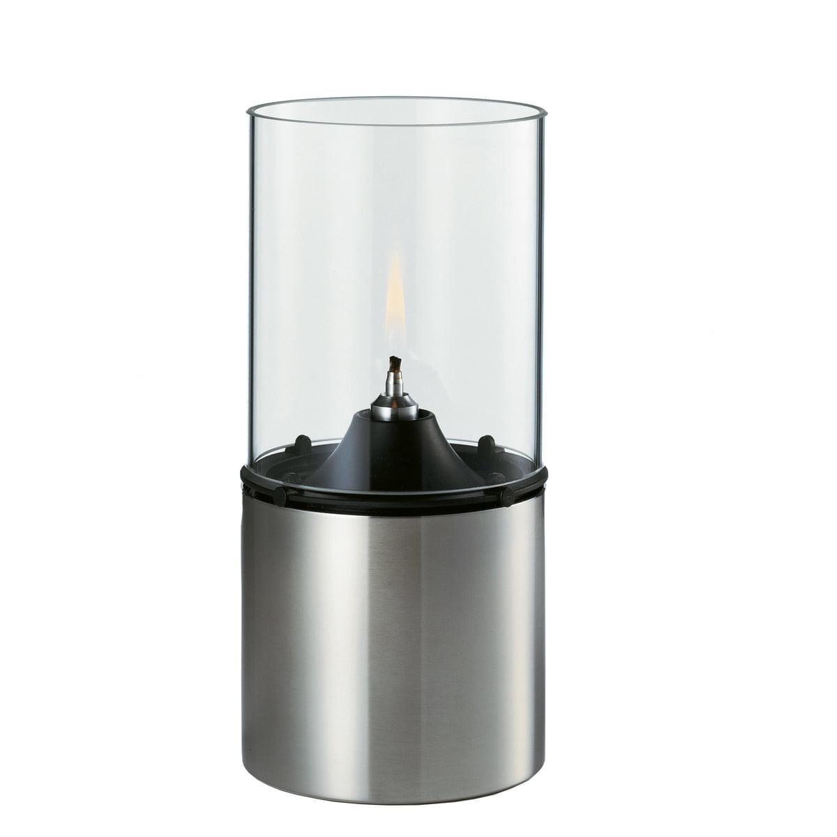Stelton - Lampe à huile 1005 avec abat-jour en verre, satiné