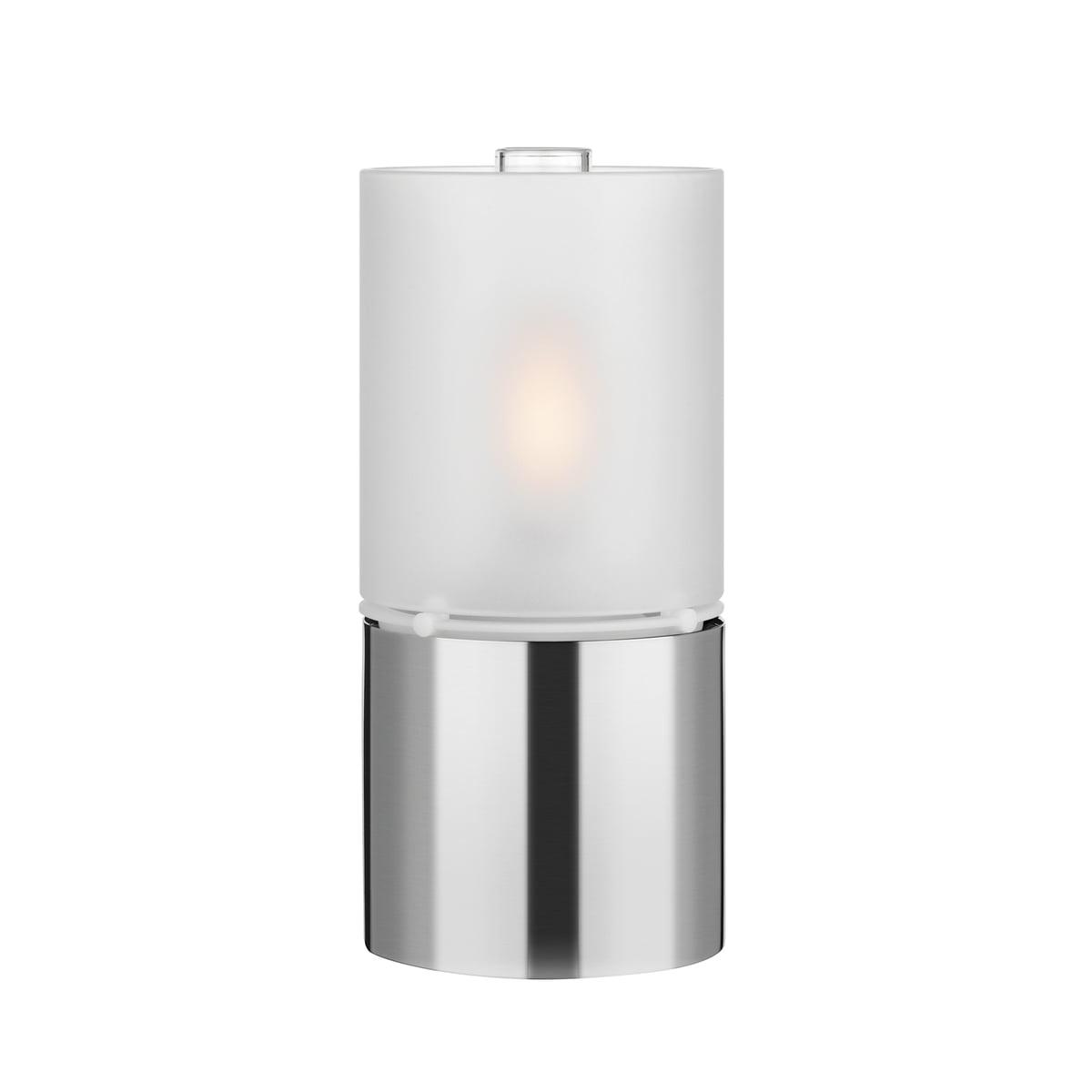 Stelton - Lampe à huile 1006 avec abat-jour en verre, satiné