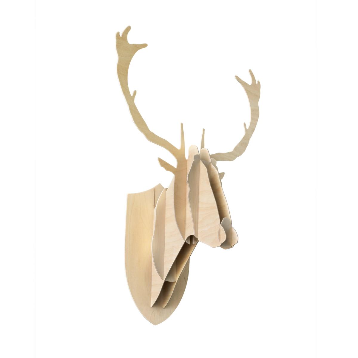 Moustache - Trophée Deer, contreplaqué de bouleau
