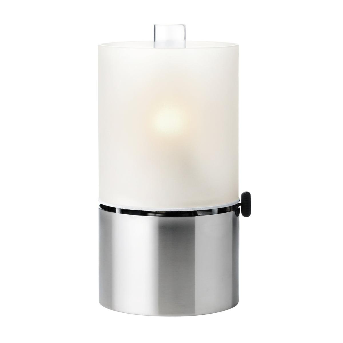 Stelton - lampe à pétrole 1008 avec abat-jour en verre, satiné