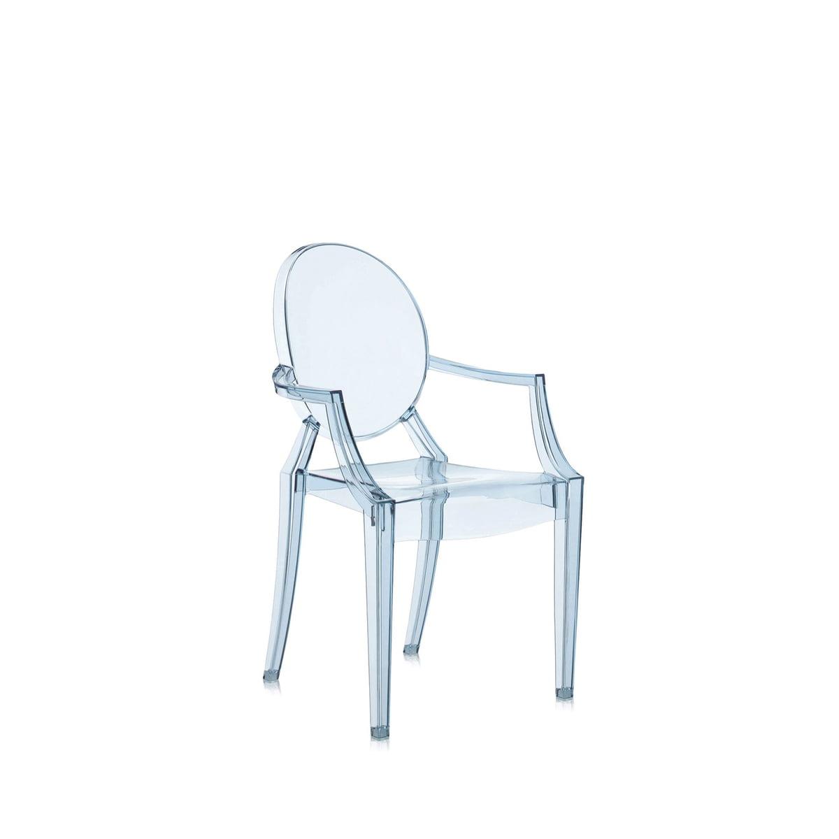 Kartell - Chaise pour enfant Lou Lou Ghost, bleu glace