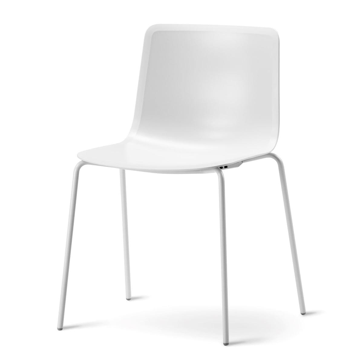 Fredericia Furniture A/S Fredericia - Chaise Pato à quatre pieds, blanc /blanc