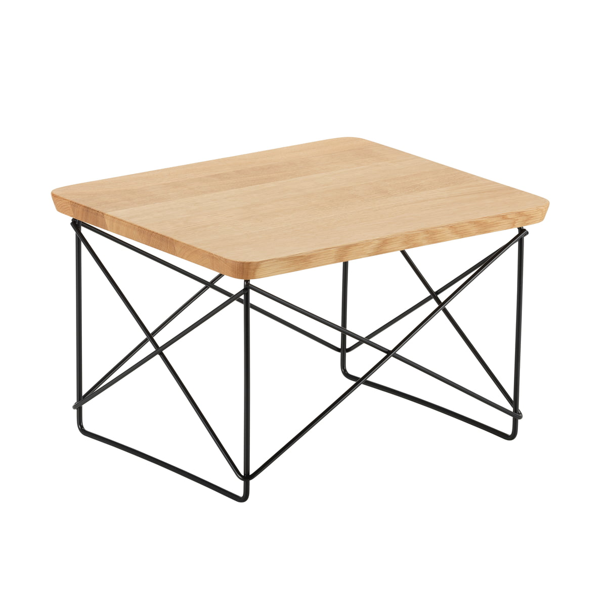Vitra - Table Eames Occasional LTR chêne / basic dark