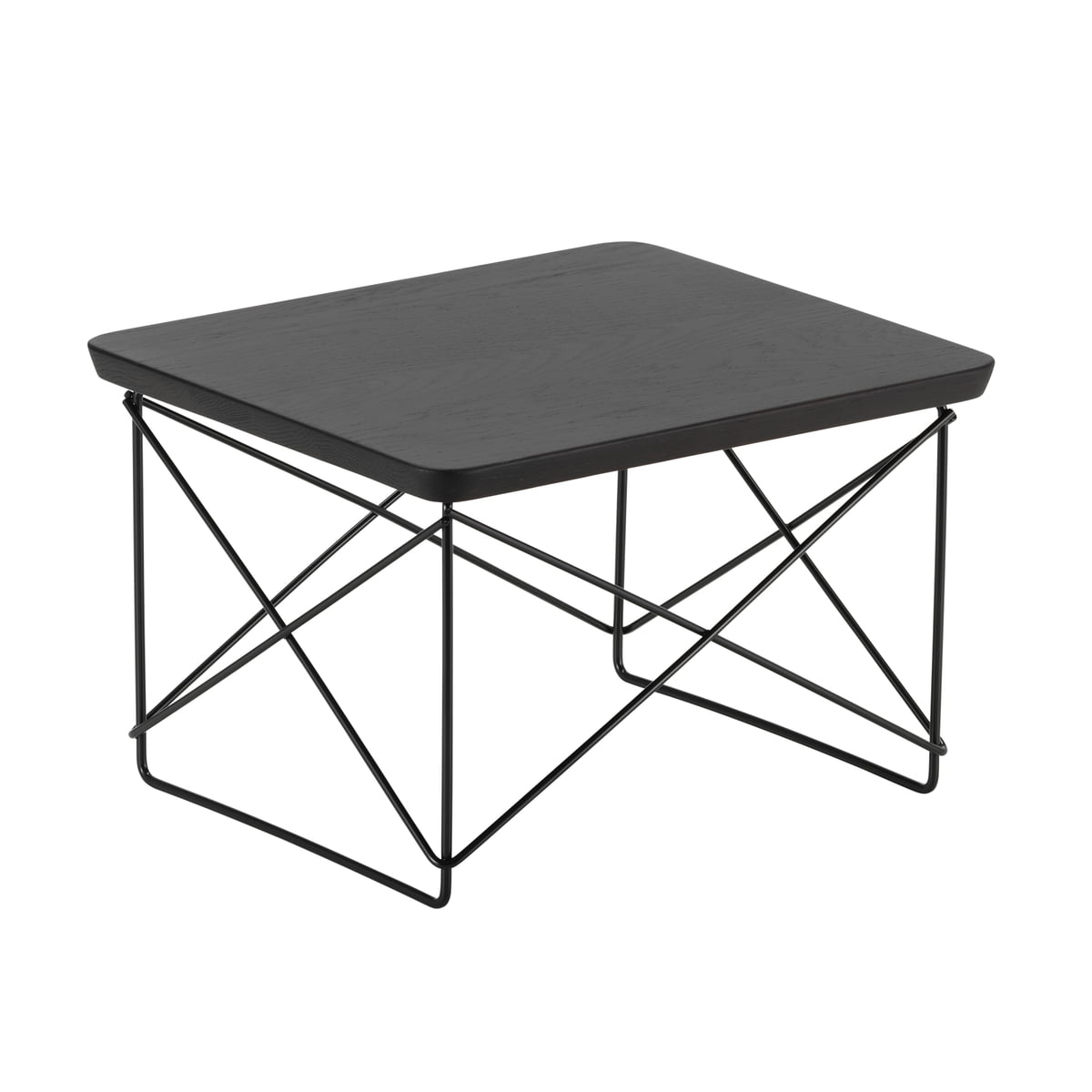 Vitra - Table Eames Occasional LTR chêne fumé / basic dark