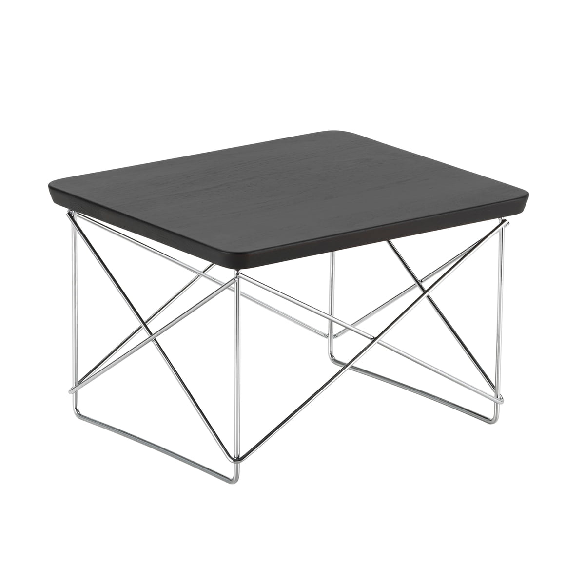 Vitra - Table Eames Occasional LTR chêne fumé / chrome