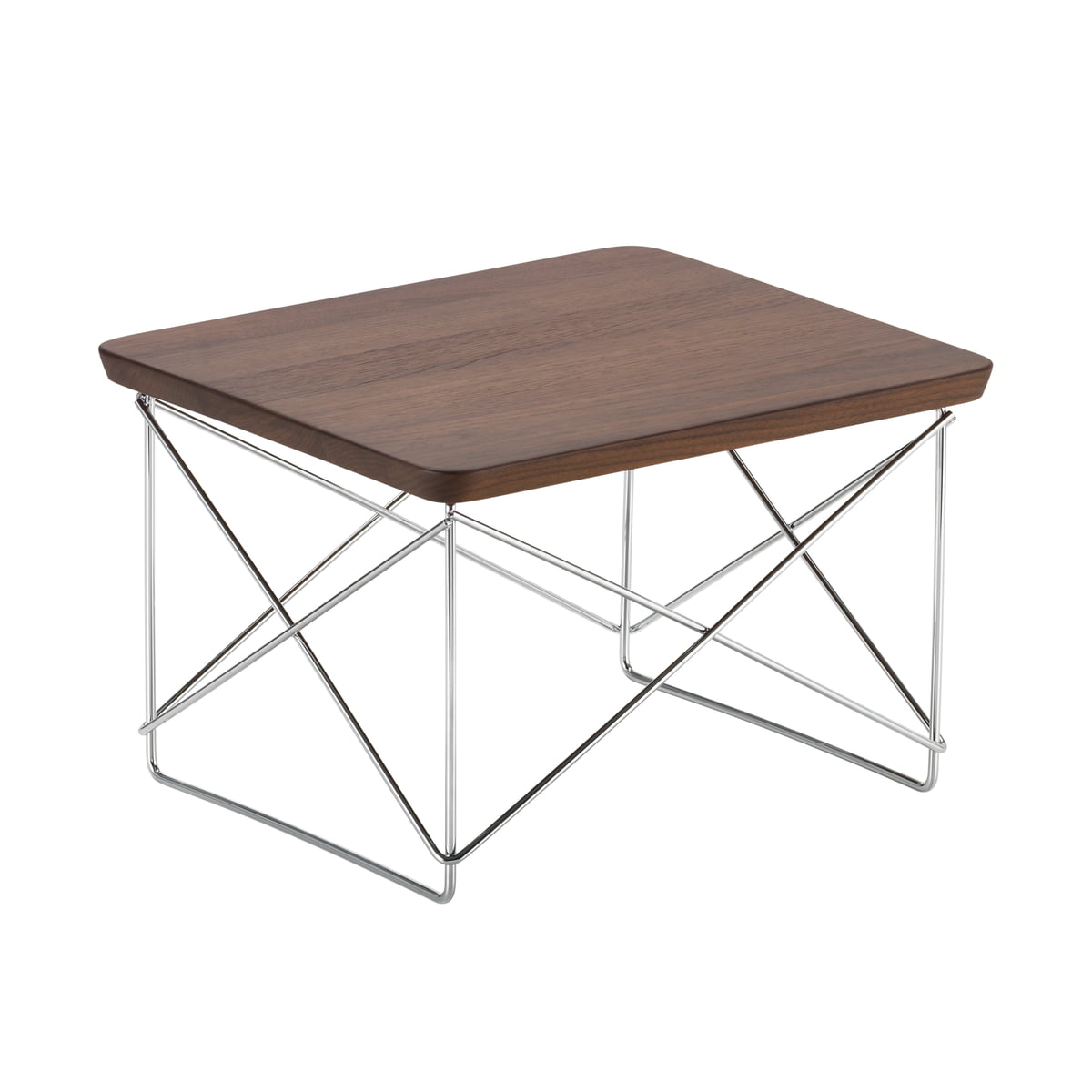 Vitra - Table Eames Occasional LTR noyer / chrome
