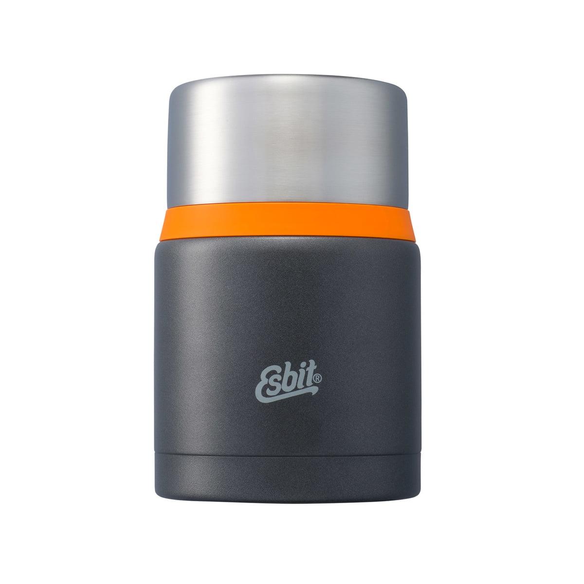 Esbit - Boîte alimentaire « Food », 750 ml, gris foncé/orange