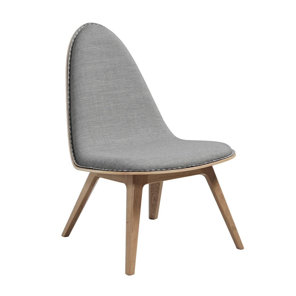 SACK it ApS Sack it - Chaise lounge Nordic, chêne teinté clair/gris clair (Remix 2), avec coutures