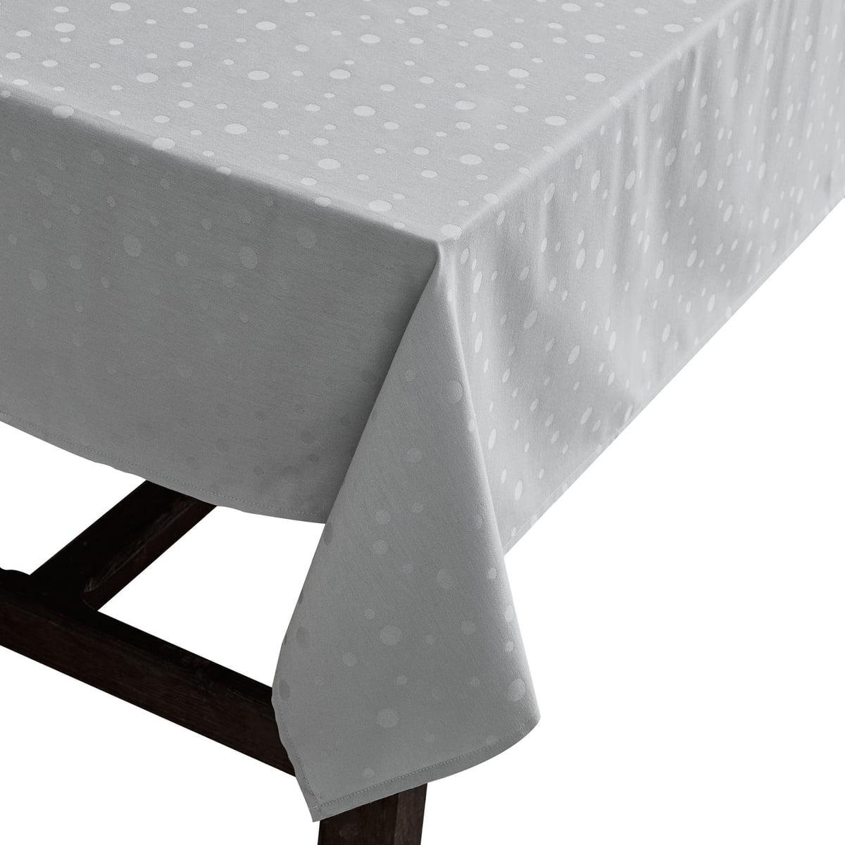 Juna - Nappe Dot 140 x 220 cm, gris clair