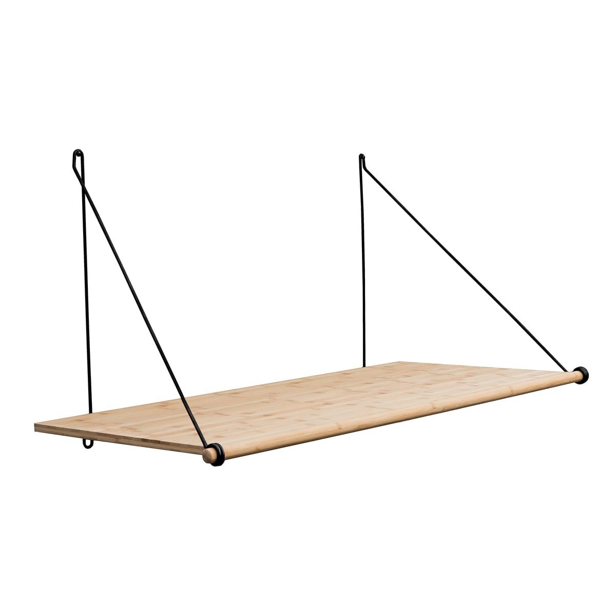 We do wood - Bureau en boucle, bambou / acier noir