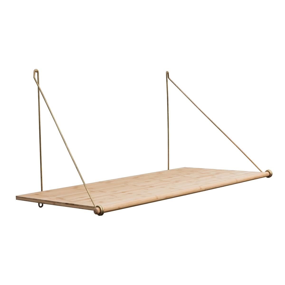 We do wood - Bureau en boucle, bambou / laiton